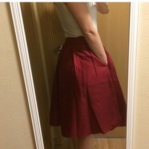 Dresses & Skirts - Beautiful red a-line skirt